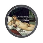 Freud Erotic Quote and Titian Wall Clock